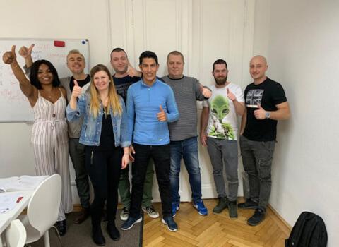 Kursabschluss A1.1. im Februar 2019 – wwir lernen Deutsch in Wien mit IFU zusammen.