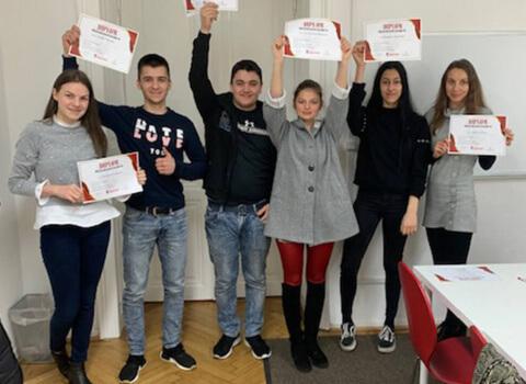 Kursabschluss A2.2. im Februar 2019 – wir lernen Deutsch mit IFU zusammen.