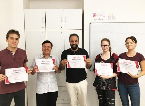 Kursabschluss B1.1 im August 2019 – wir lernen Deutsch mit IFU zusammen.