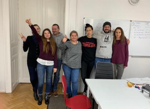 Kursabschluss A2.1. im Januar 2019 – wir lernen Deutsch in Wien mit IFU zusammen.