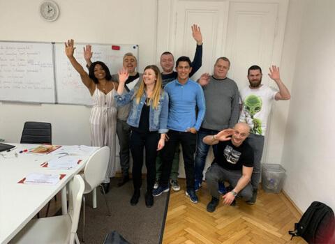 Kursabschluss A1.1. im Februar 2019 – wir lernen Deutsch mit IFU zusammen.