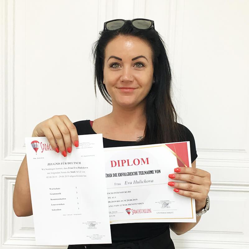 Eva Hulickova, A1.1, Slovakei