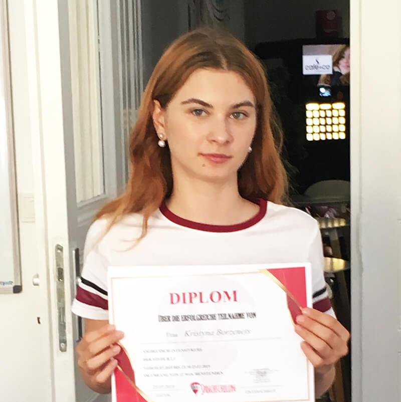 Kristyna Borzenets, B2.1 (Ukraine)