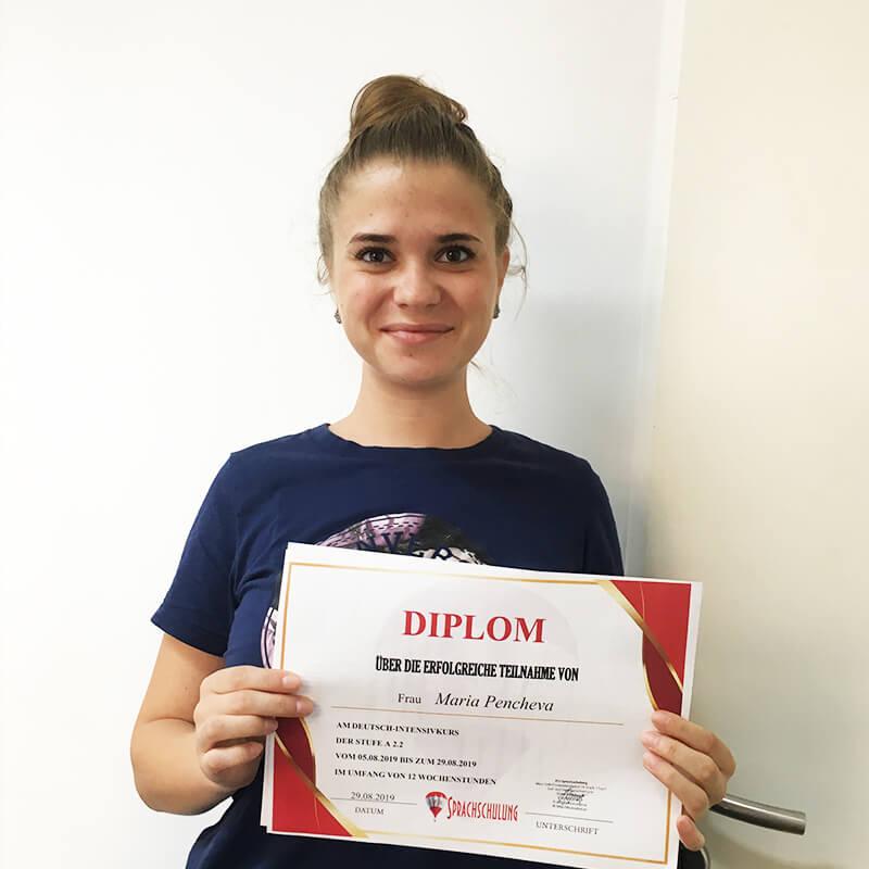 Maria Pencheva, A2.2, Bulgarien