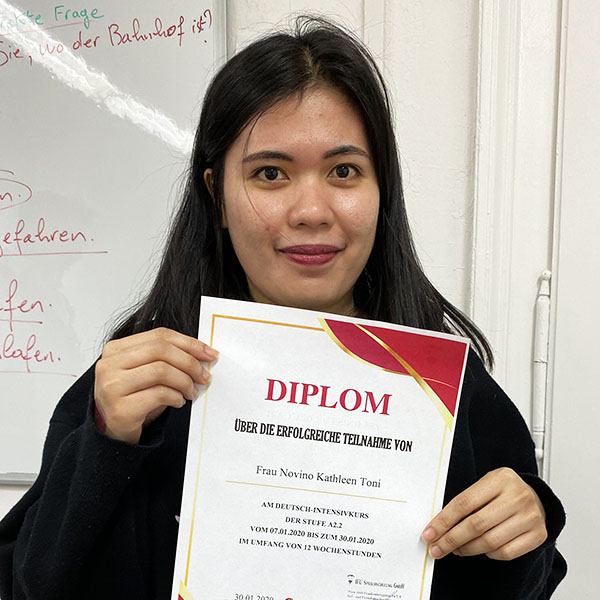 Kathleen Novino; Philippinen; Stufe: A2.2