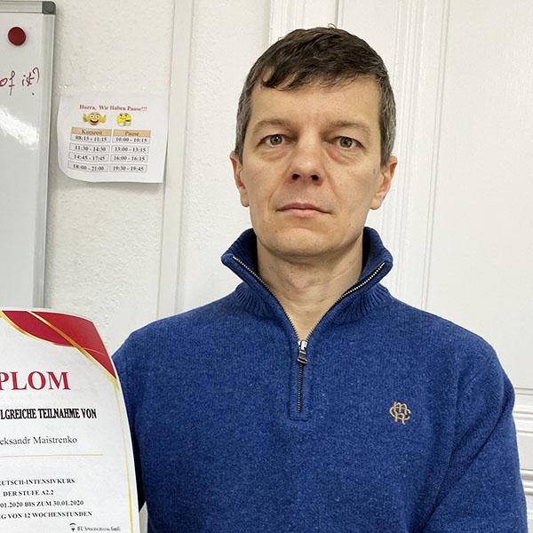 Oleksandr Maiszrenko; Ukraine; Stufe: A2.2