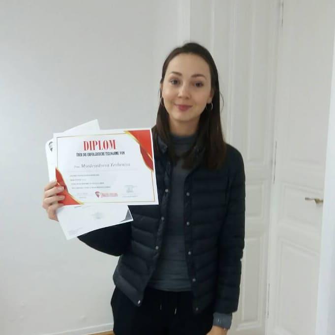 Yevheniya Myedvyedyeva, A1.2 (Ukraine)